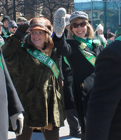 Barb and Margie in the Cleveland St. Patrick's Day Parade!