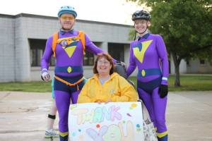 The Wonder Twins biked 75 miles to raise money for individuals living in Northeast Ohio with Multiple Sclerosis (MS) during its 2014 Pedal to the Point ride.