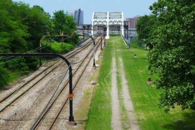 The Red Line Greenway would run alongside GCRTA's Red Line for 3 miles. (Image credit: Steve Litt, The Plain Dealer)